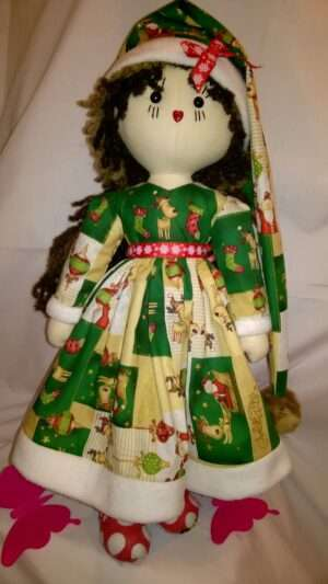 Holly Christmas Rag Doll by Love Ellybelly
