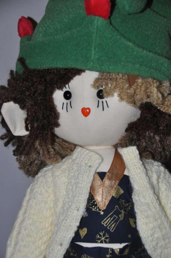 Radella Christmas Elf Rag Doll by Love Ellybelly