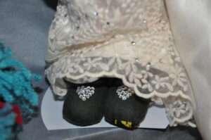 Rhea Wedding Rag Doll by Love Ellybelly