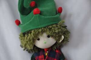Snowie Christmas Elf Rag Doll by Love Ellybelly